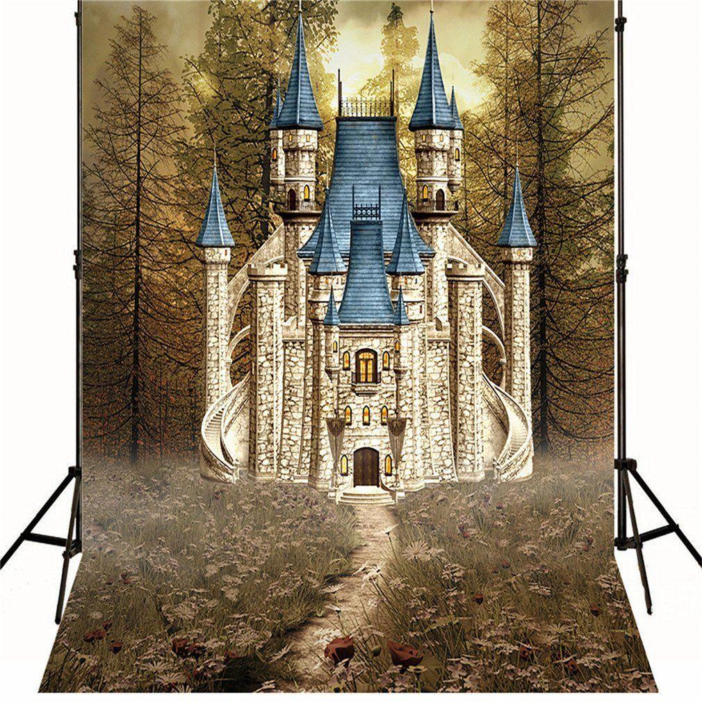 2019 10x10ft Retro Vintage Castle Photo Backdrop Autumn