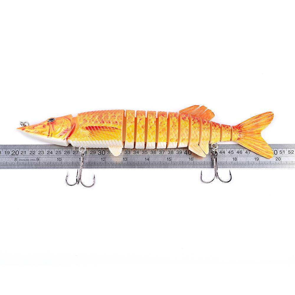 Big Game Fishing bait 13 Segments saltwater lures 30cm 212g Swimming Depth 3m-9m Big dog fish plastic hard lure