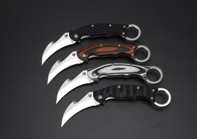 Venta caliente garra cuchillo plegable EDC cuchillo de bolsillo 7cr17 cuchilla superficie del espejo Micarta manejar herramientas de camping cuchillo de caza supervivencia cuchillo de rescate