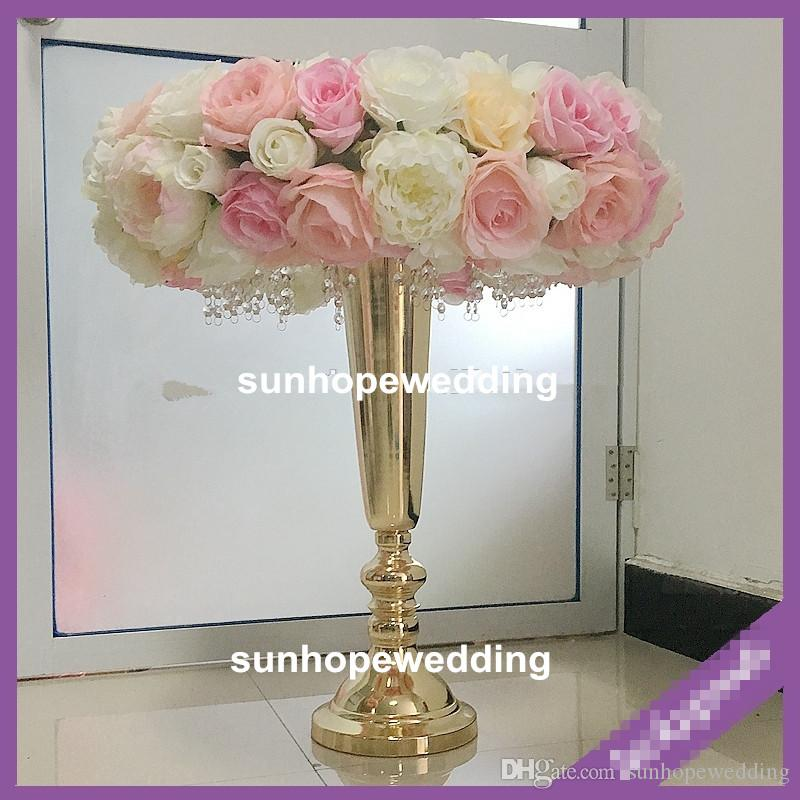 gold or sliver iron Wedding road lead decorative pillar/column for wedding and events