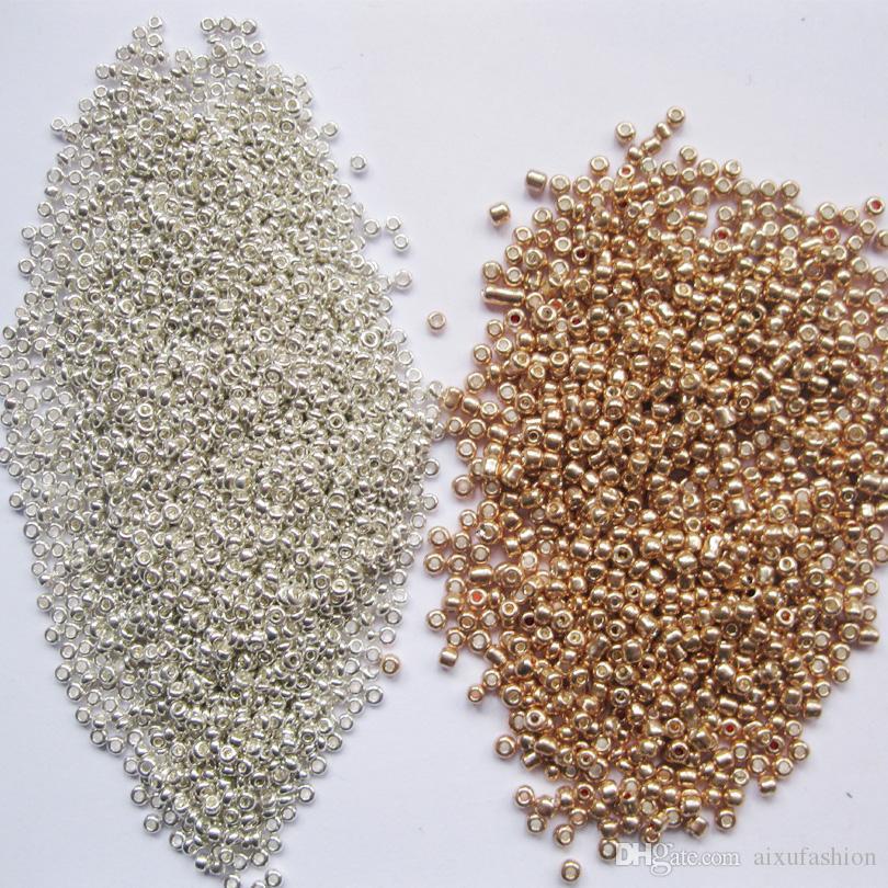 Color de plata de oro 2 mm / Crystal Class Spacer Beads Reuniones de semillas checas para 3mm 4mm Joyería Hecho a mano DIY Hallazgos Hallazgos sueltos