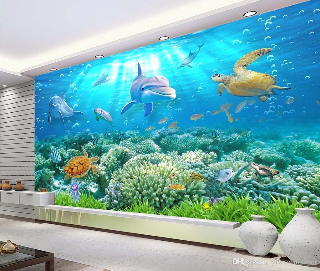 Hd Underwater World 3d Backdrop Wall Mural 3d Wallpaper 3d Wall