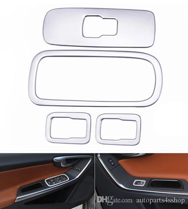 car door armrest switch panel cover trim for volvo xc60 s60 v60 stainless steel interior window. Black Bedroom Furniture Sets. Home Design Ideas