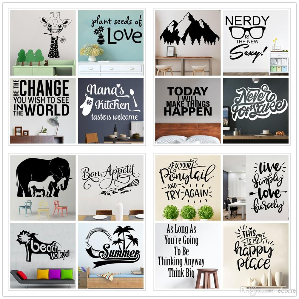 Famous Quotes Wall Decal Inspirational Wall Sticker Vinyl Removable Wall Letters Stickers For Kids Rooms Offices Home Decor Wall Tattoos Decals Wall To Wall ...  sc 1 st  DHgate.com & Famous Quotes Wall Decal Inspirational Wall Sticker Vinyl Removable ...