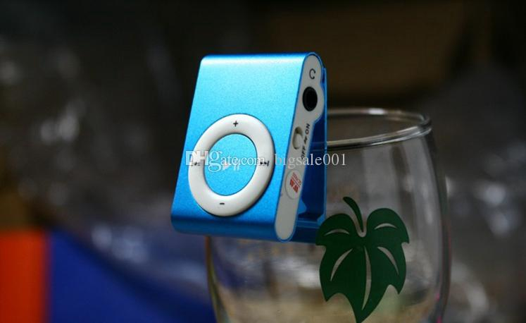 Mini Clip MP3 Player Cheap Colorful Support mp3 Players with Earphone, USB Cable, Retail Box, Support Micro SD/TF Cards wholesale