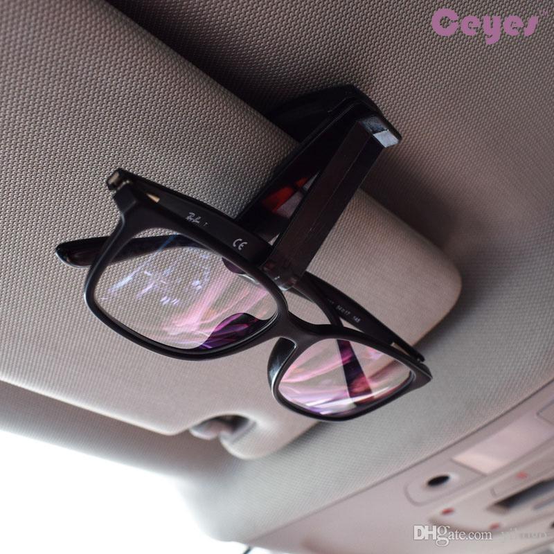 Gafas para vehículos automáticos Sujetador de clip portátil Gafas Sujetador clip Sujetador Ticket Card Clamp Gafas de sol negro Ticket Holder Car Styling