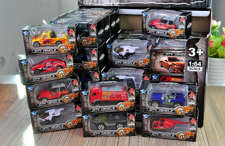 Metal Diecast Toys 1:64 Cars Plane SWAT Firefighting Trucks Helicopter 911 Police Ambulance Fire Military Trucks Die Cast City Vehicle