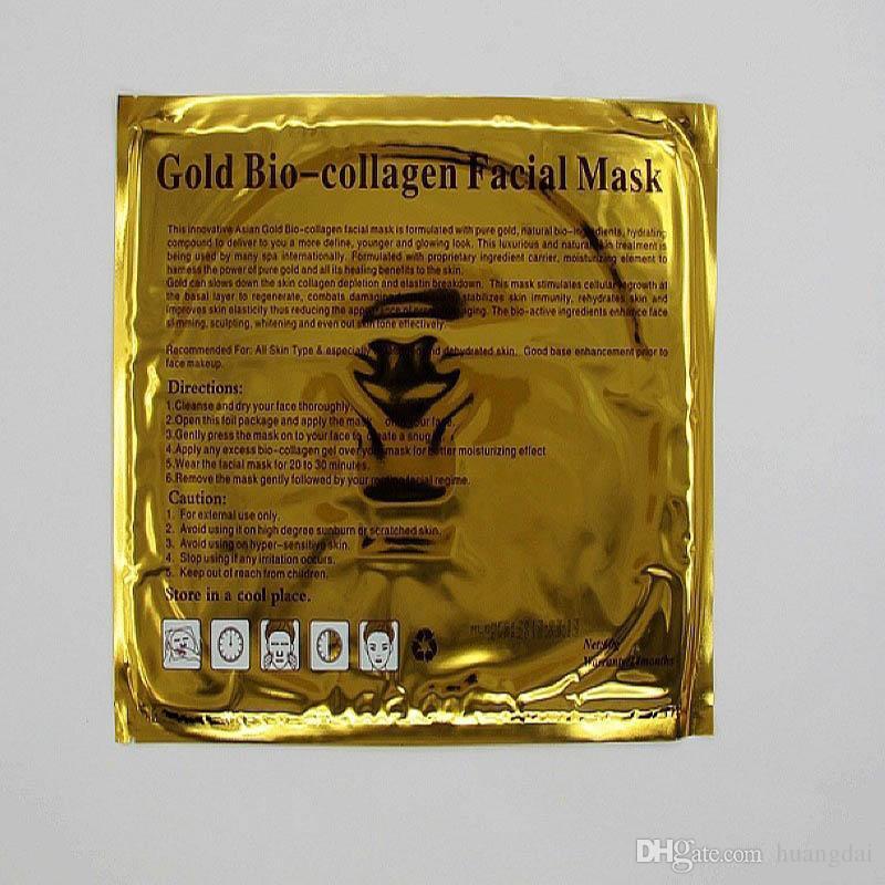Masque Or Crystal Collagen Masque Gold Bio Collagen Masque Visage Masque Hydratant Blanchiment Peeling Anti-Age Skin Care Maquillage