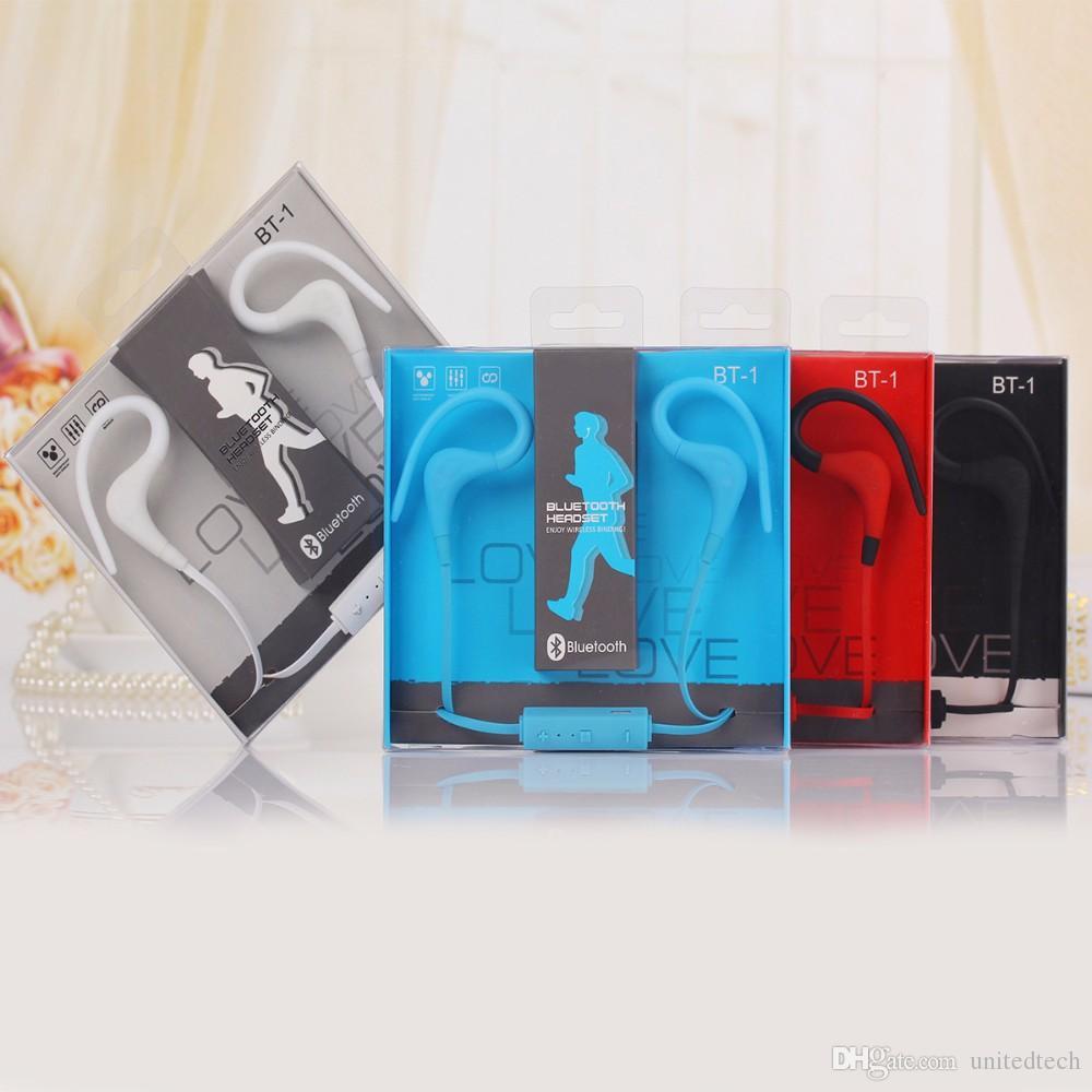 BT-1 투어 이어폰 블루투스 스포츠 이어 훅 이어폰 스테레오 오버 이어폰 S8 신제품 패키지 용 마이크가 달린 무선 이어폰 넥 밴드 헤드셋 헤드폰