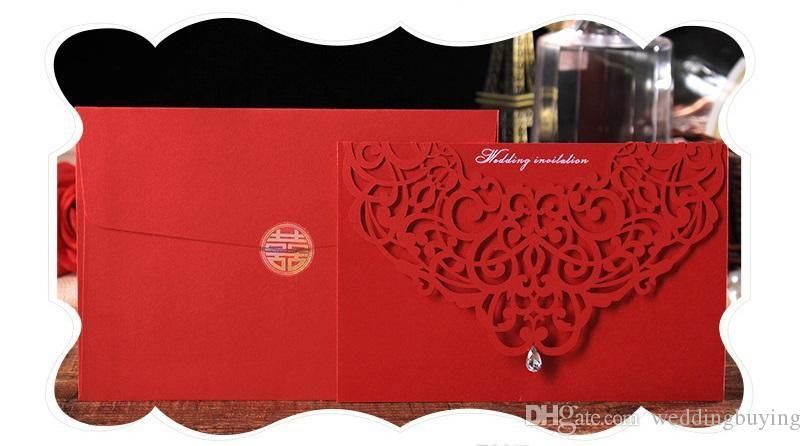 Professional Design Korean Creative Wedding Invitation Upscale Atmosphere Diamond Inlaid Wedding Invitation Cards Customized Card Low Price Wedding
