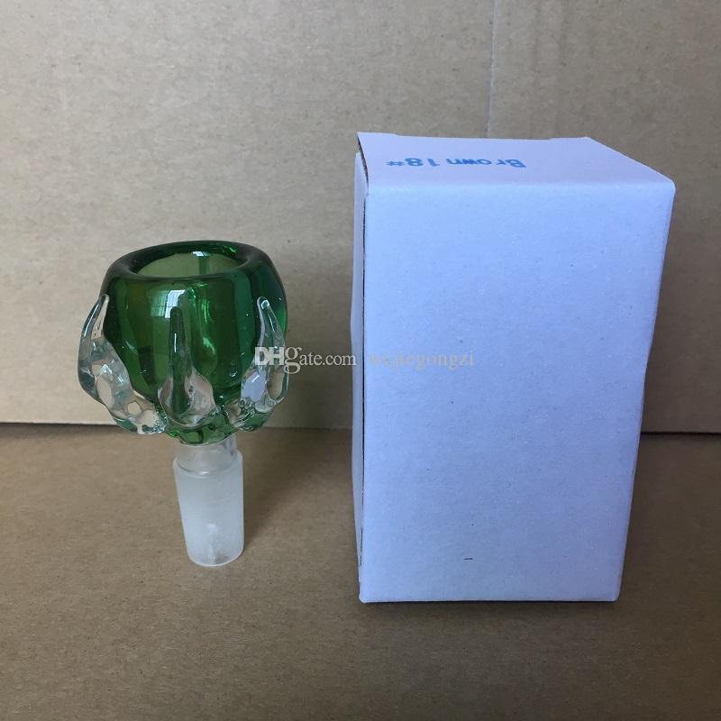Grueso Dragon Garra cristal macho tazón de vidrio 14mm 18mm conjunta para bongs de vidrio pipas de agua