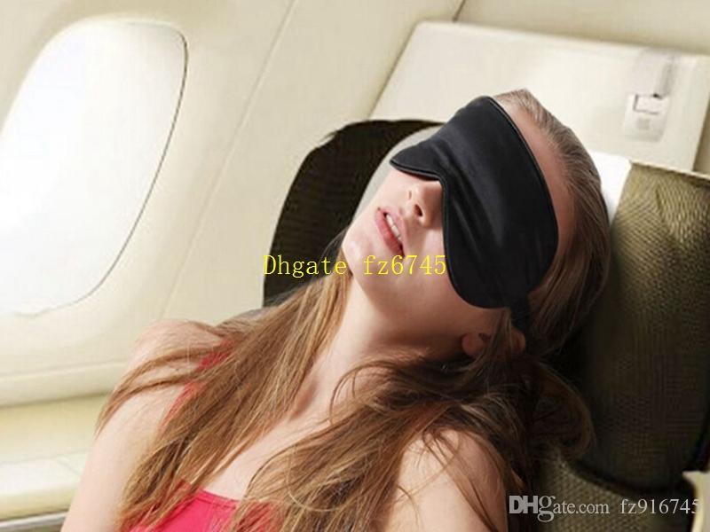 شحن مجاني 3 في 1 مجموعة عالية الجودة السفر لينة الحرير العين قناع النوم الايدز الغلاف eyemask الظل الغمامة + الإسفنج سدادات + الحقيبة حقيبة