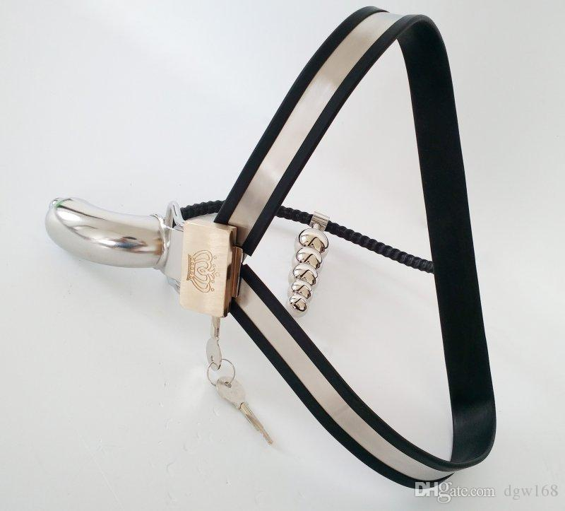Latest Design Male Model-Y Chastity Devices with Cock Cage Stainless Steel Chastity Belt with Plug bdsm Metal Bondage Sex Toys