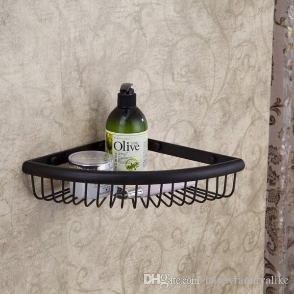 Single Tier Antique Black Bronze Bathroom Shelf Brushed Nickel Wall ...