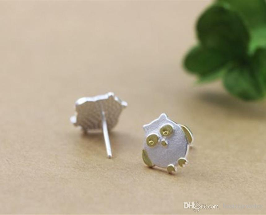 Newest Post Earrings Summer 925 Sterling Silver Cute Owl Stud Earrings Cartoon Animal Fashion Jewelry for Women Girl Brincos