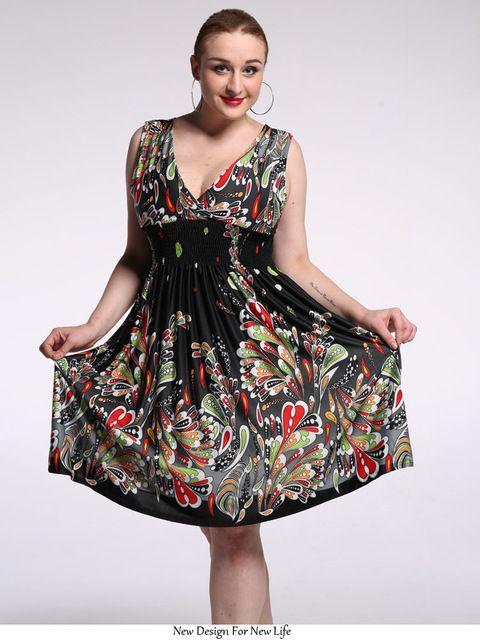 4402a431b39 2017 New Women Summer Boho Dress Ladies Vestidos Largos Robe Femme Print Beach  Dress Plus Size 6xl 7xl Bohemian Maxi Dresses Sun Dresses Sale Women Dress  ...
