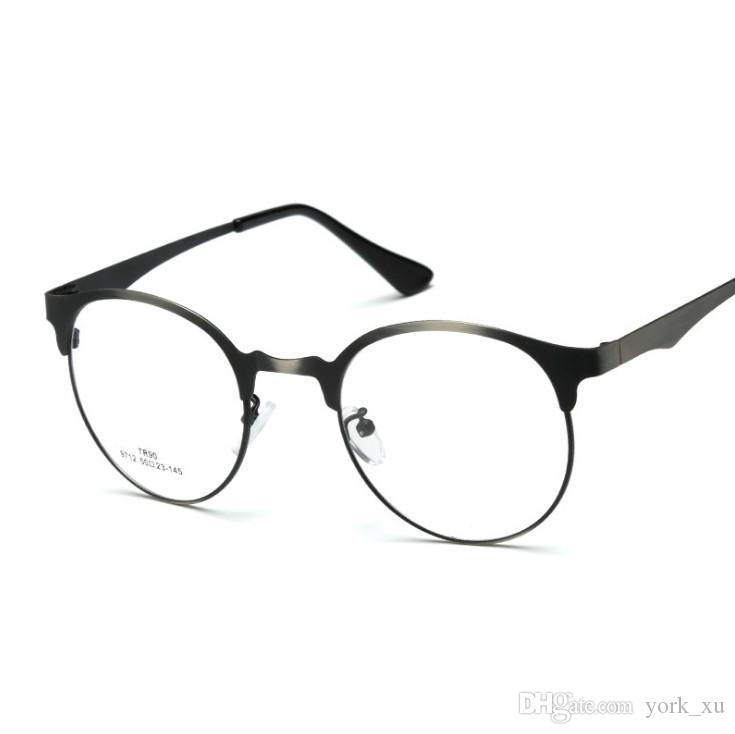 24fb7d69e3 Eye Glasses Frame Alloy Style Unisex Hipster Vintage Retro Classic Half  Frame Glasses Clear Lens Nerd Eye Wear Gls001 Eye Frame Fashion Frames From  York xu