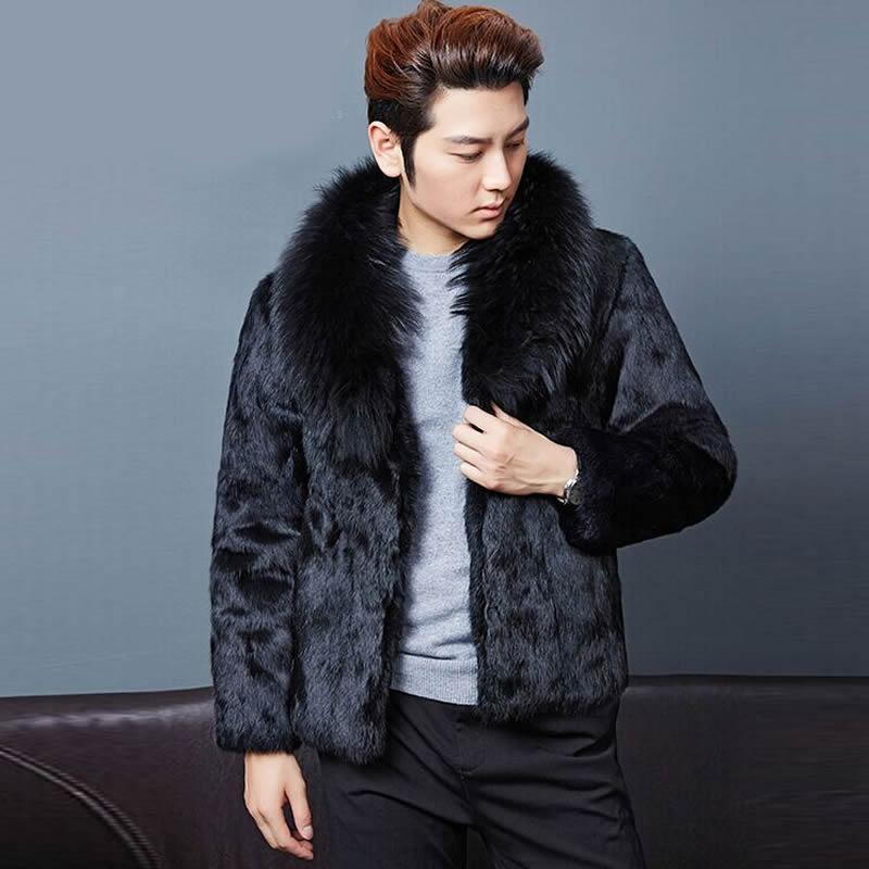 2017 Fashion Mens Faux Fur Coats Faux Mink Coat Men Clothing ...