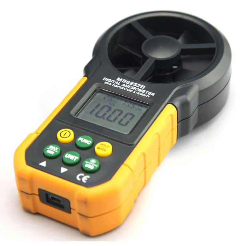 Digital Anemometer T&Rh Sensor Air Wind Speed Velocity Meter USB Interface