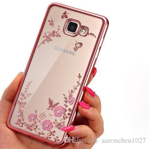Diamants Rose Conception De Cas Tpu Pour Samsung Galaxy A3 aiRTs