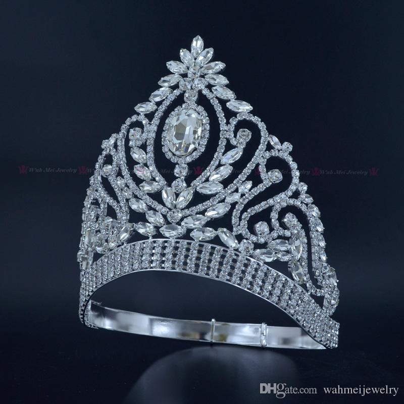 2019 Pageant Crowns Rhinestone Crystal Silver Miss Beauty Queen