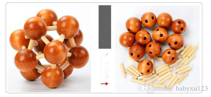 Engraçado Chinês Tradicional De Madeira Brinquedos Educativos para Crianças Adultas Inteligência Educação Enigma Bloqueio Crianças Brinquedos de madeira Y065