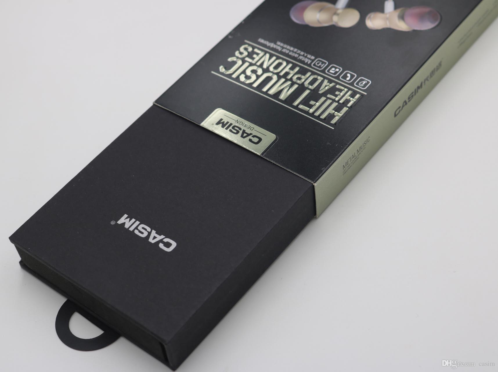 Yeni Casim Kulak Metal Kulaklık Kulaklık In-line Kontrolü Manyetik Netlik Stereo Ses ile Mic Kulaklık İçin Samsung iPhone Cep Telefonu