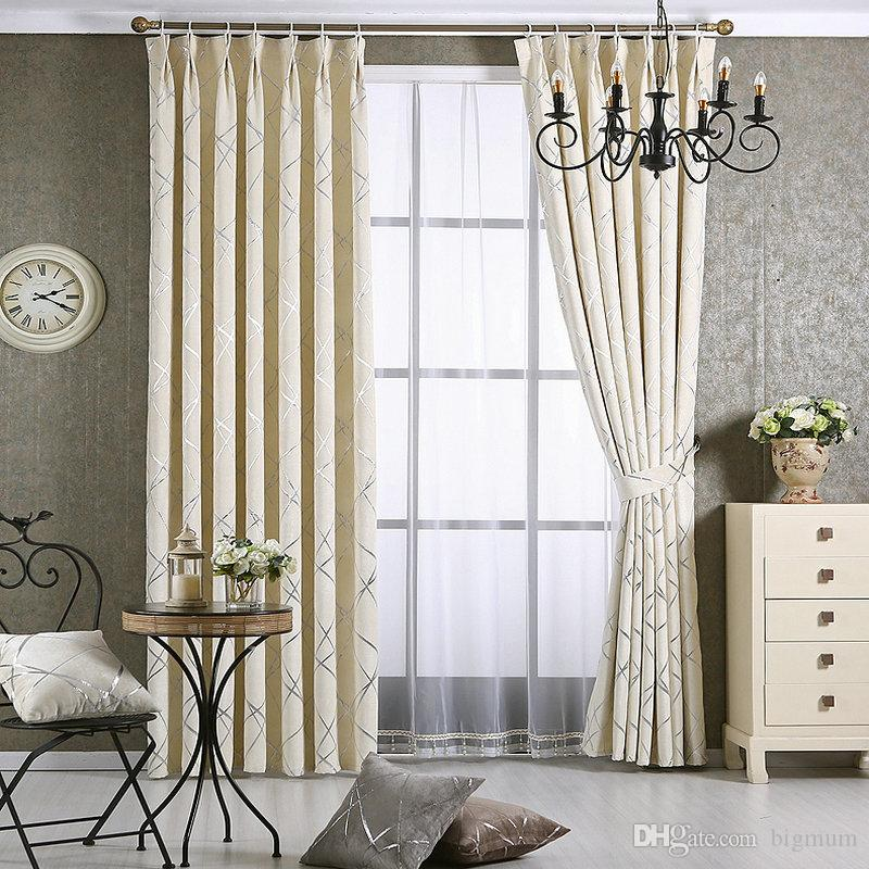 New Style Windows Curtain For Living Room Bedroom Hotel Gold chenille Jacquard Flowers Drapes Blackout Window Drapes Custom Made For Window