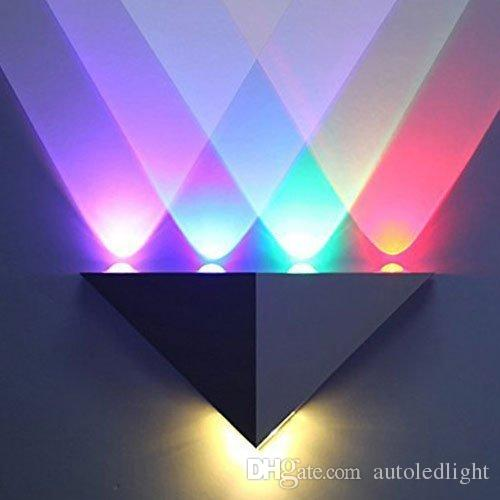 2018 Modern Triangle 5w Led Wall Sconce Light Fixture Indoor Hallway ...