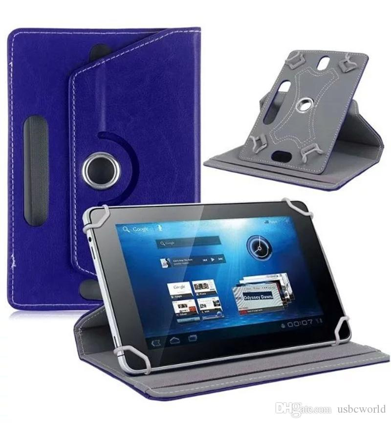 Universal Tablet Leather Cases 360 Degree Rotating For 7 8 9 10 Inch Wih OPP Package Free DHL Shipping
