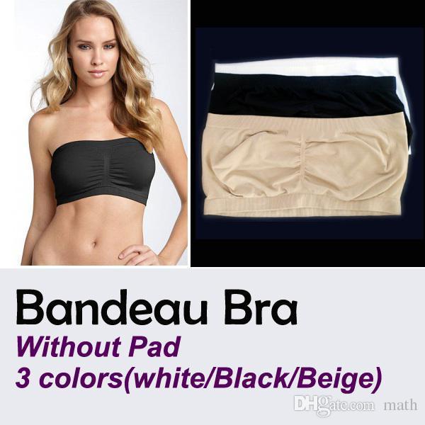 8976d3184e4a2 2019 Fashion Sexy Womens Strapless Boob Tube Top Bandeau Bra Yoga Bra OPP  Bag From Math