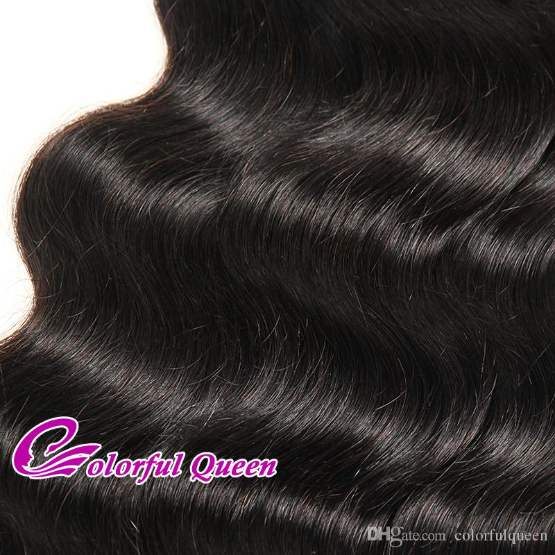 Body Wave Indian Hair 7A Unprocessed Raw Indian Virgin Hair Weave Bundles 400gColorful Queen Wavy Black Hair 8-30 Inch
