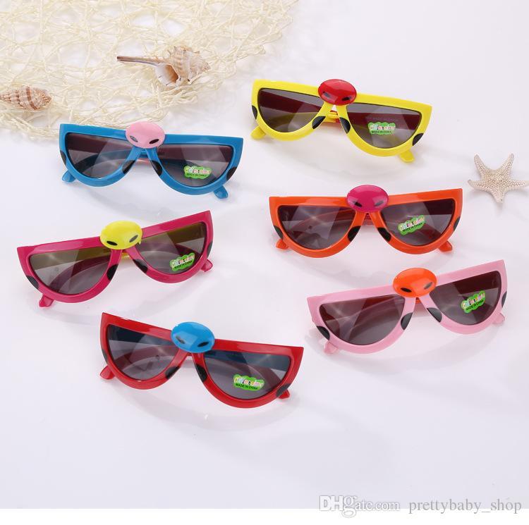 490a9deb1ece 2019 Lovely Cartoon Beetles Kids Sunglasses Summer Baby Glasses Boys Girls  Children Cartoon Sunglasses Shades Sun Shade Folding Anti Uv Glasses From  ...