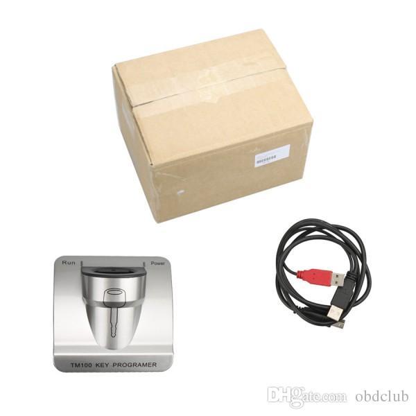 Yeni Sürüm V3.48 TM100 Transponder Anahtar Programcı + ID46 Cloner Anahtar Program, araba programlama makinesi TM 100 ANAHTAR KOPYA ARACı