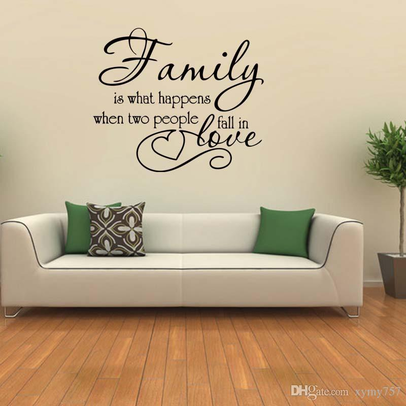 Family Love Quote Vinyl Wall Decal Sticker Art Personality Removable Words Home Decor Bedroom Sitting Room Diy
