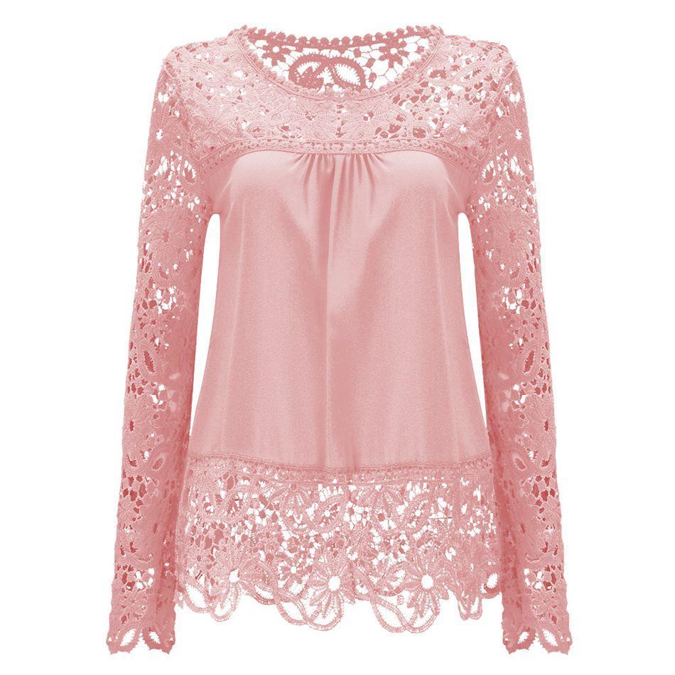 0541ebc3cf21c New Summer Chiffon Lace Blusa Blouse Chemise Femme Plus Size Blusas ...
