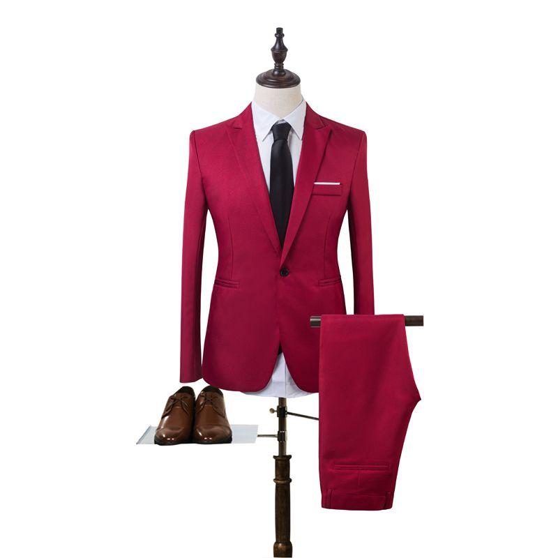 2019 Wholesale 2017 New Designs Coat Pant Suit Men Solid Color