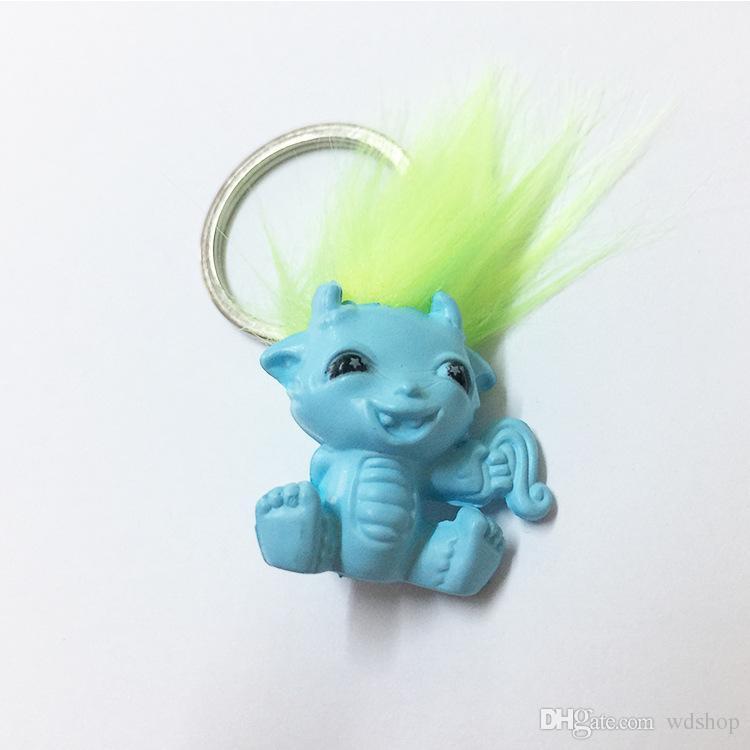 6 unids / set Trolls Anillos Lindos Mini PVC Trolls Figuras de Acción Juguetes Regalos Para Niños Regalo de Navidad de Cumpleaños