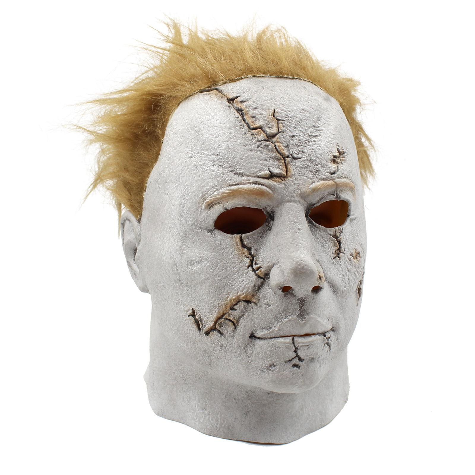 Cheap 2017 Hot Selling Halloween Carniaval Character Scary Movie Theme Face Mask Movie Cosplay Latex Michael Myers Mask Full Face Head Mask
