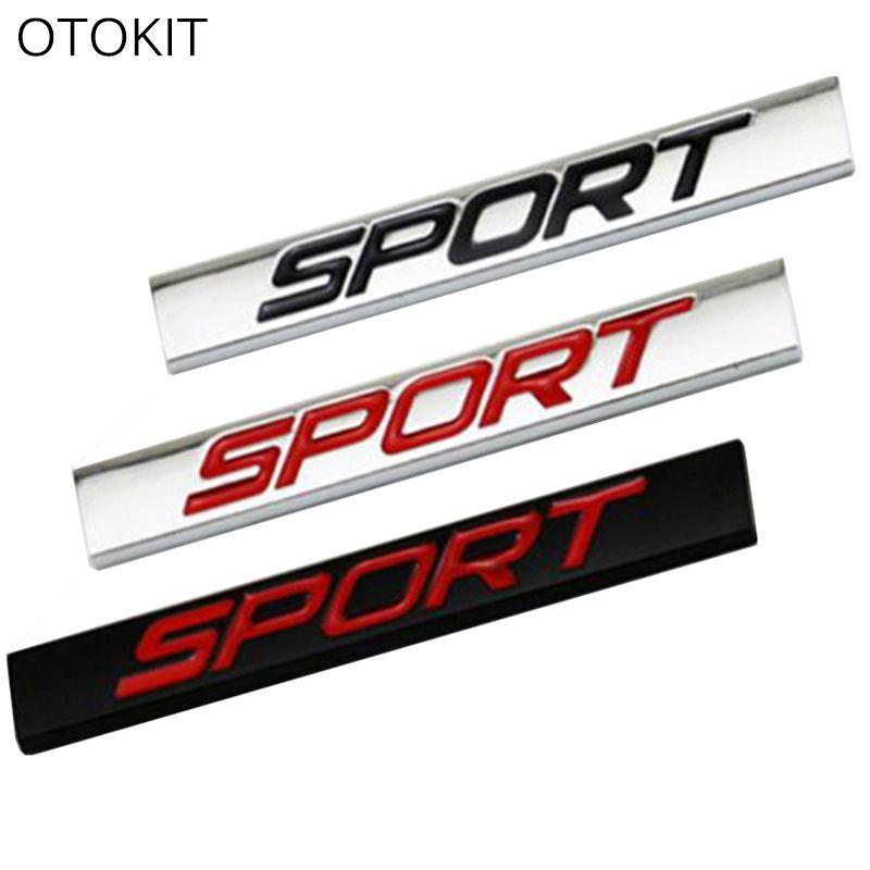 sport logo square zinc alloy car styling emblem badge auto refitting