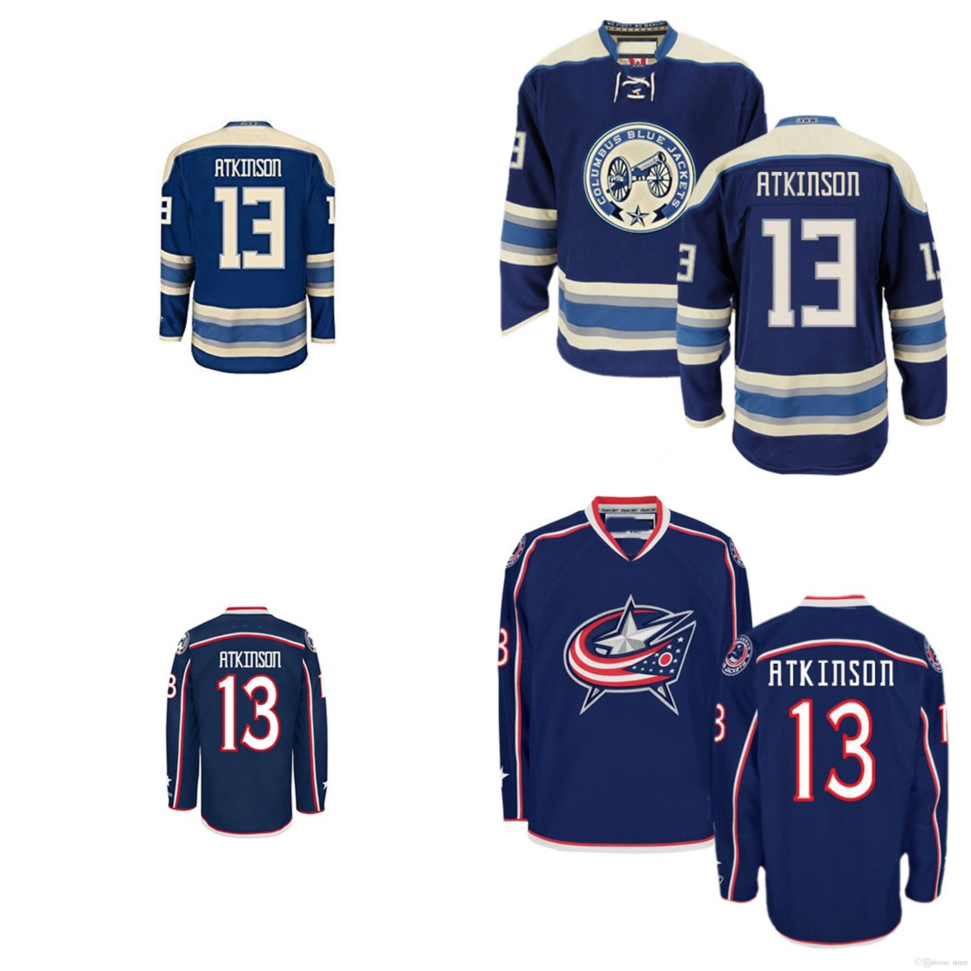 a547f793e ... Jersey 2017 Wholesale 2016 New Columbus Blue Jackets 13 Cam Atkinson  Blue 100% Embroidered High Quality ...