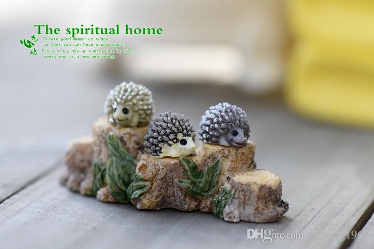 Microlandschaft Mini Animal Hedgehog Figurine Fairy Landscape Ecology Scenery Props Miniature Resin Craft Bonsai Tools Moss 0 6cj C