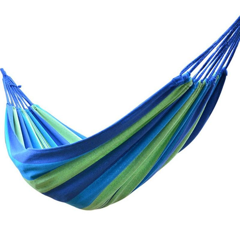 Portable Outdoor Hammock Garden Sports Home Travel Camping Swing Canvas  Stripe Hang Bed Hammock Red, Blue 190 X 80cm Swimming Pool Furniture Deck  Furniture ...