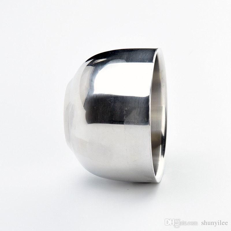 الرجال دائم المقاوم للصدأ حلاقة الصابون كوب المهنية حلاقة صالون ل فرشاة التسلق الحلاقة القدح وعاء الوجه العناية هدية ZA2089