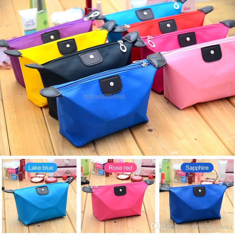 Cosmetic Bags For Women MakeUp Pouch Solid Make Up Bag Clutch Hanging Toiletries Travel Kit Jewelry Organizer Casual Purse
