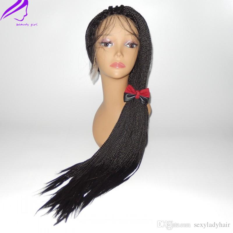 New Braided Lace Front Wig Micro Braid Wigs Hand Box