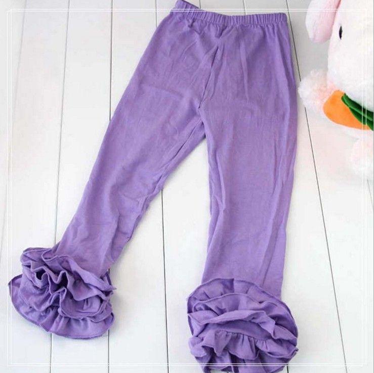 Wholesale Baby Girls Cotton Ruffles Leggings Pants tight Toddlers Children Baby Kids Ruffle Leggings With Ruffled kids trousers 17-7
