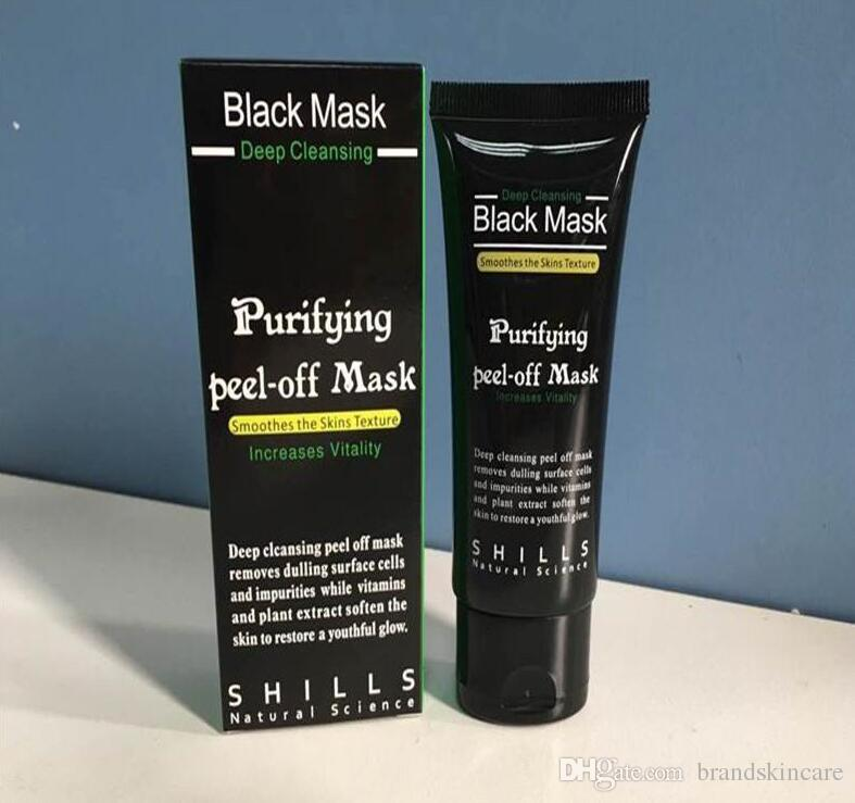 2017 Black Suction Mask 50ml SHILLS Deep Cleansing purifying peel off Black face mask Remove blackhead Peel Masks