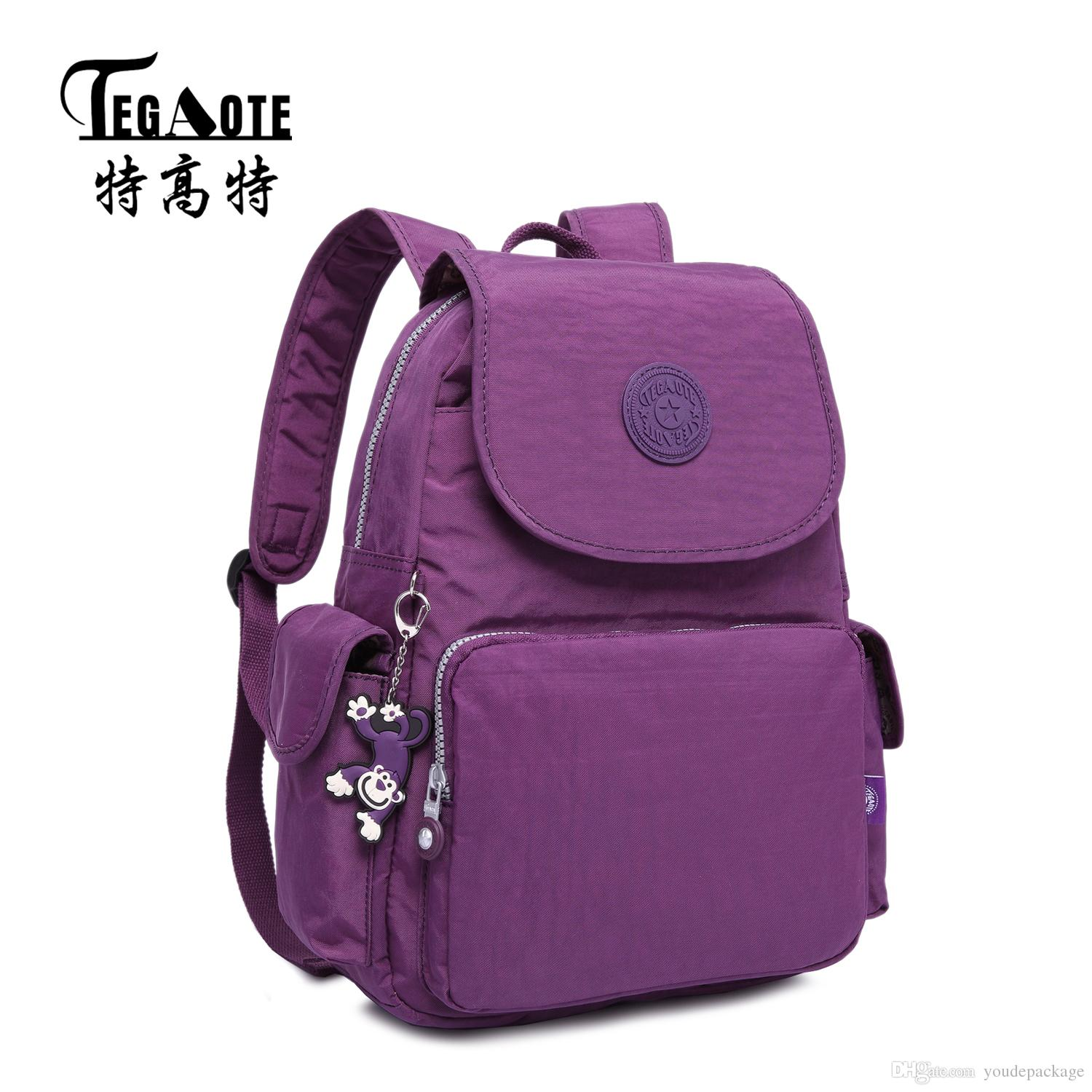 Tegaote 2017 Women Backpack Waterproof Nylon Lady Women'S ...