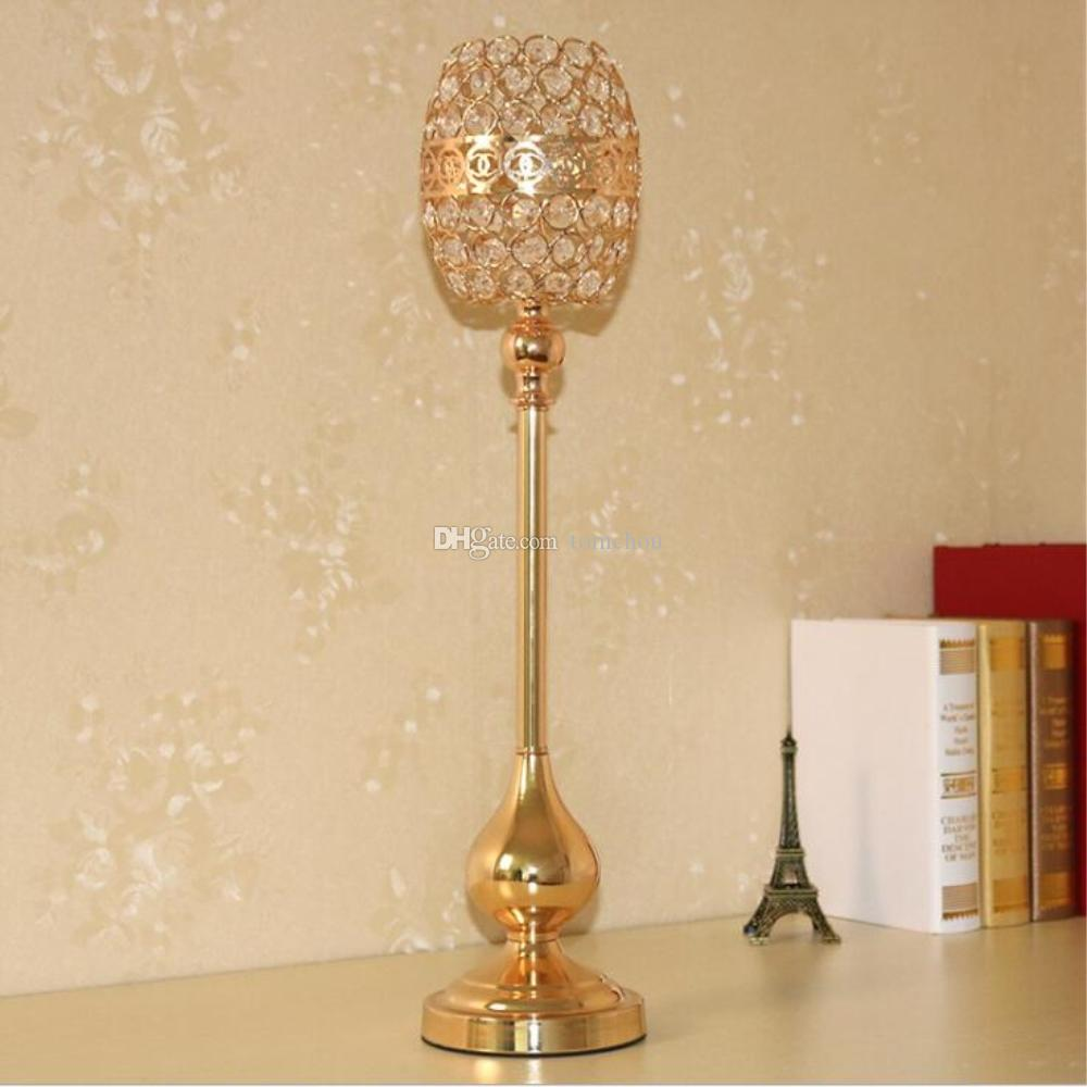 Gold Candle Holders Event Candlesticks Party Creative Gourd Shape ...